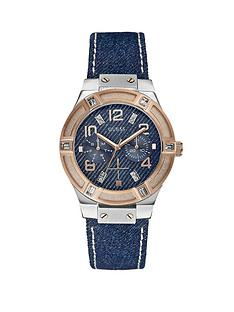 guess-rose-gold-and-silver-tone-blue-denim-strap-ladies-watch