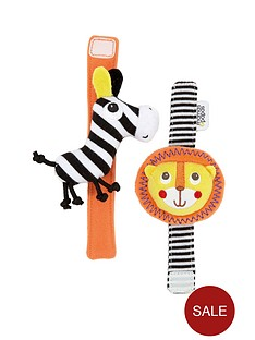 mamas-papas-safari-wrist-rattle-pack