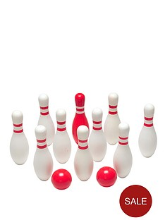 red-and-white-bowling-set