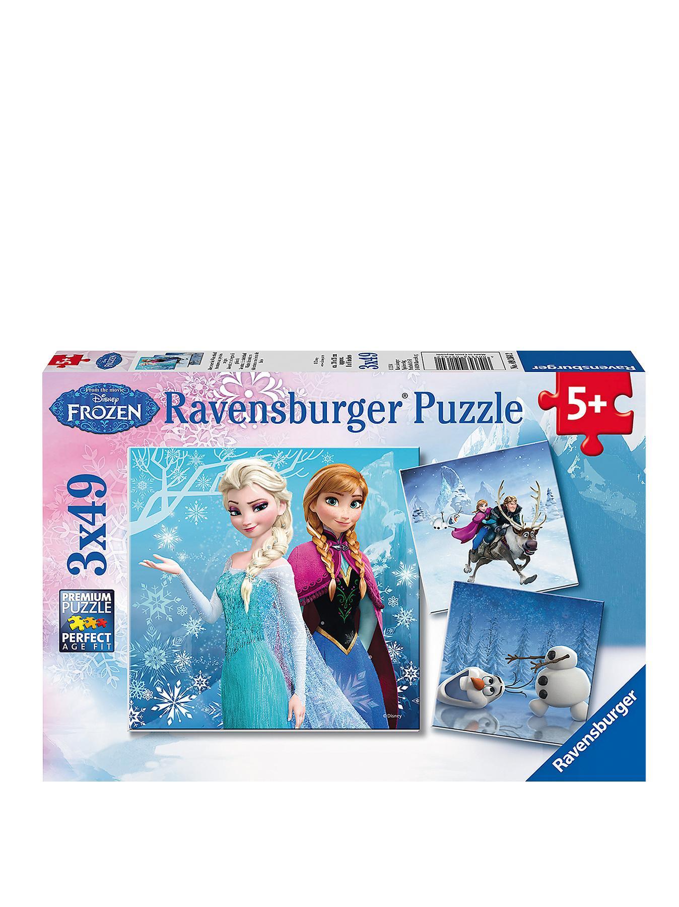 Disney Frozen 3 x 49-Piece Jigsaw Puzzles