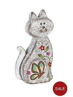 stone-effect-sitting-cat-garden-ornament