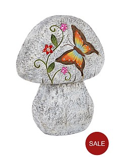 stone-effect-mushroom-garden-ornament