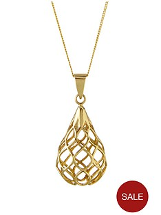 elements-9-carat-gold-cutout-tear-drop-pendant