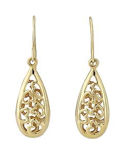 love-gold-9-carat-yellow-gold-filigree-dropper-earrings