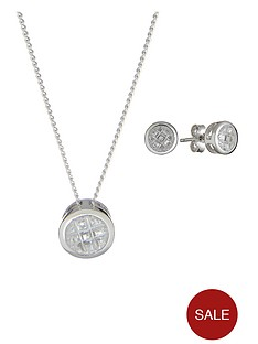 sterling-silver-white-cubic-zircona-pave-pendant-and-earrings-set