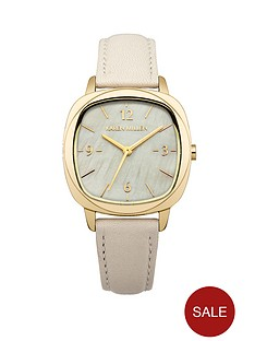 karen-millen-cream-calf-leather-strap-ladies-watch