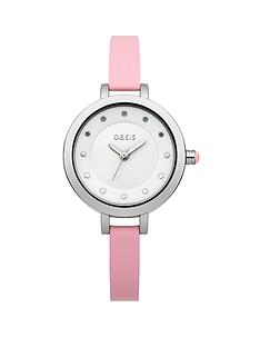 oasis-pink-strap-ladies-watch