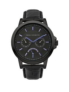 french-connection-black-strap-mens-watch