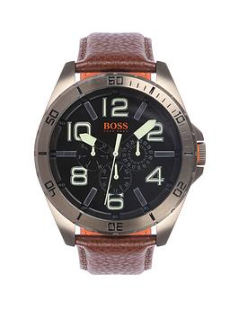 hugo-boss-classic-round-multi-eye-dial-bronze-ip-brown-leather-strap-mens-watch