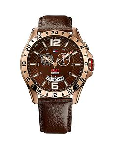 tommy-hilfiger-round-multi-eye-dial-rose-gold-tone-brown-leather-strap-mens-watch