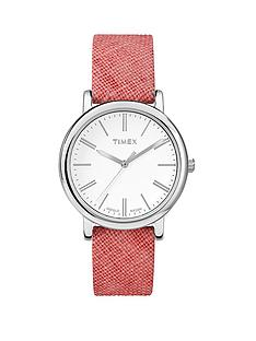 timex-classic-coral-linen-strap-ladies-watch