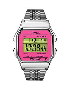 timex-80-mesh-band-silver-tone-hot-pink-lens-ladies-watch