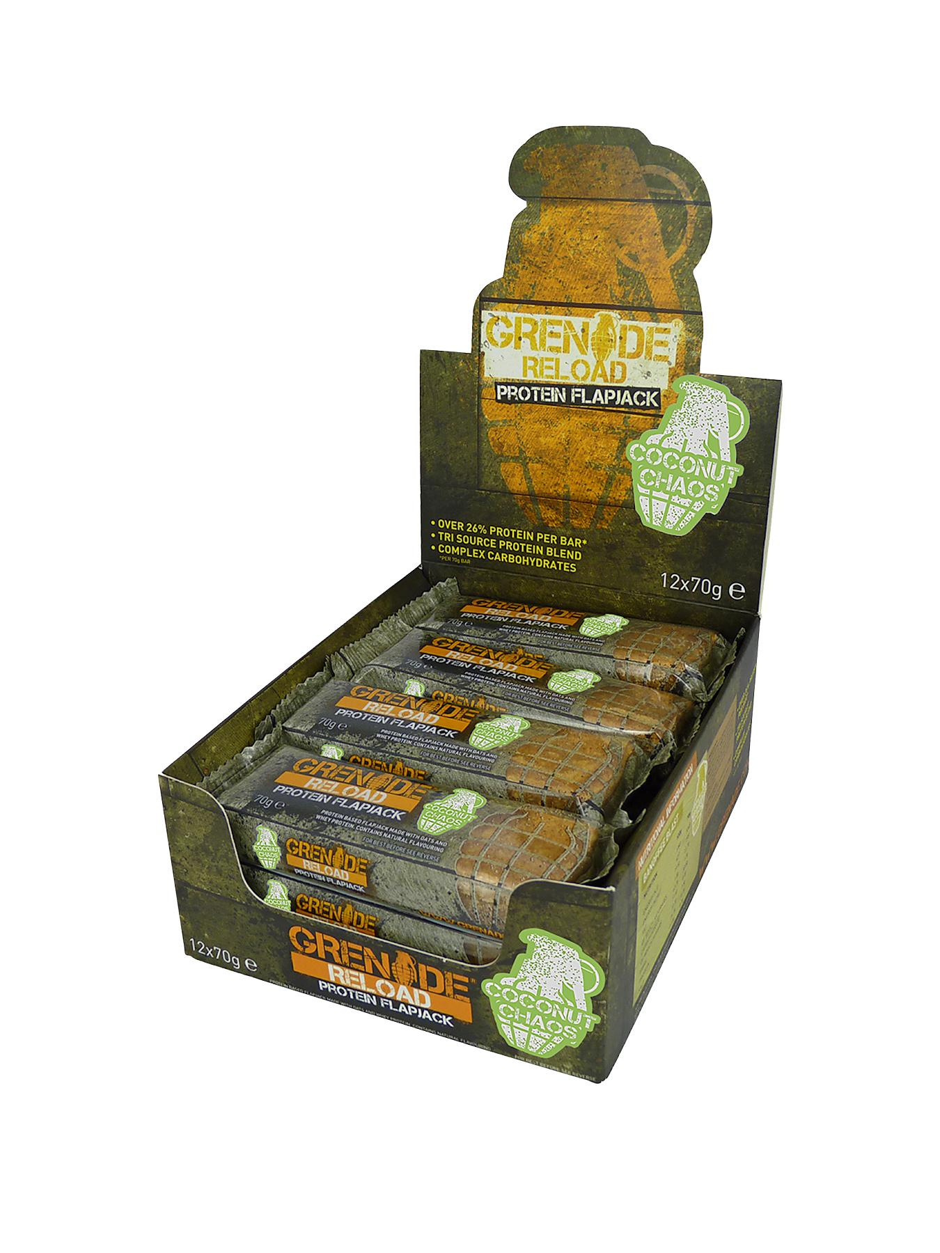 GRENADE Reload Coconut Chaos Protein Flapjack 12 x 70h Bars