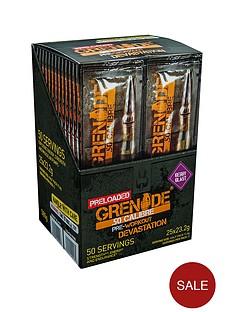 grenade-50-calibre-pre-workout-energy-boost-powder-25-x-2-serving-satchets-berry-blast