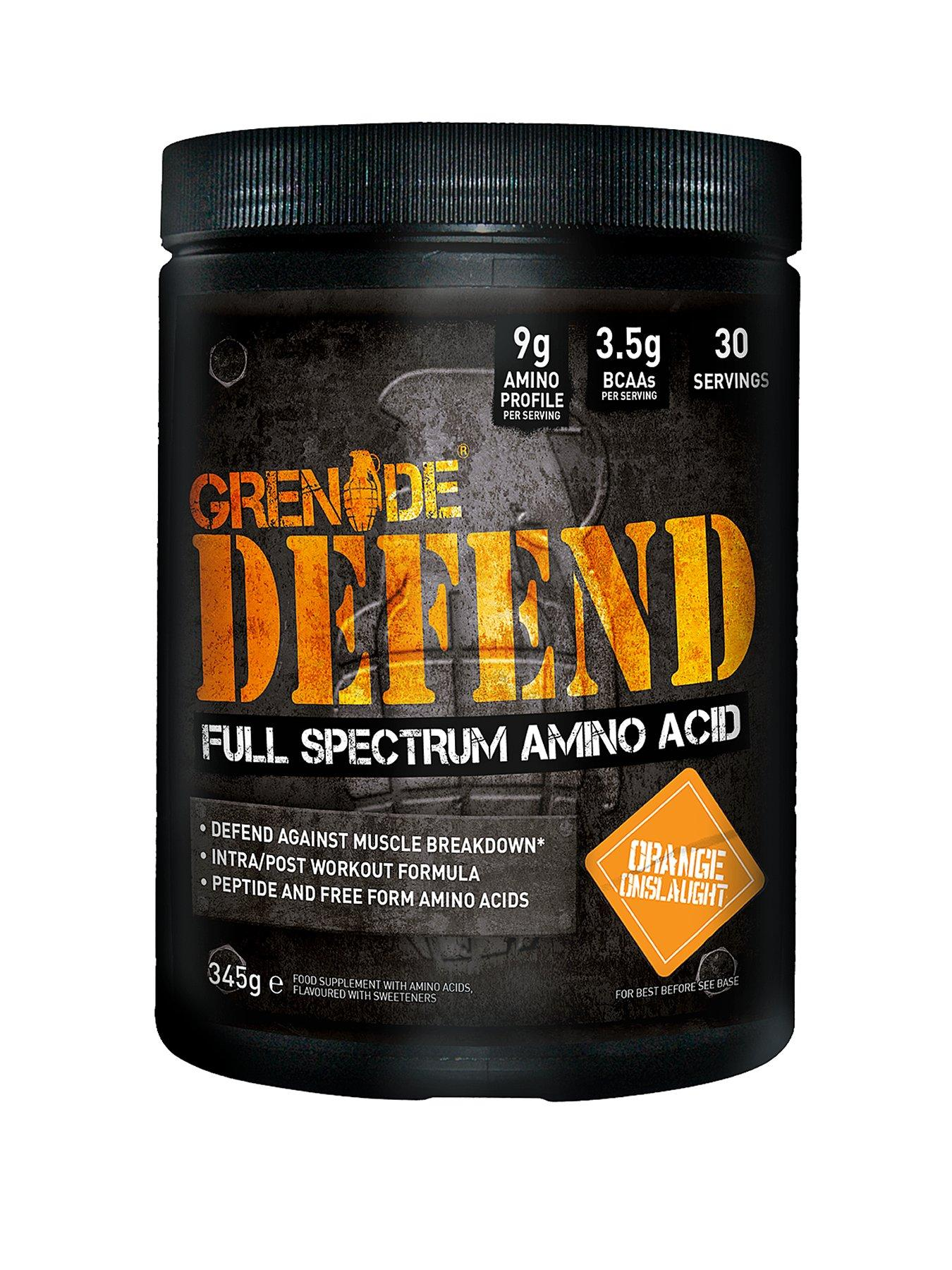 GRENADE Defend During and Post Amino Acid Powder Orange Onslaught