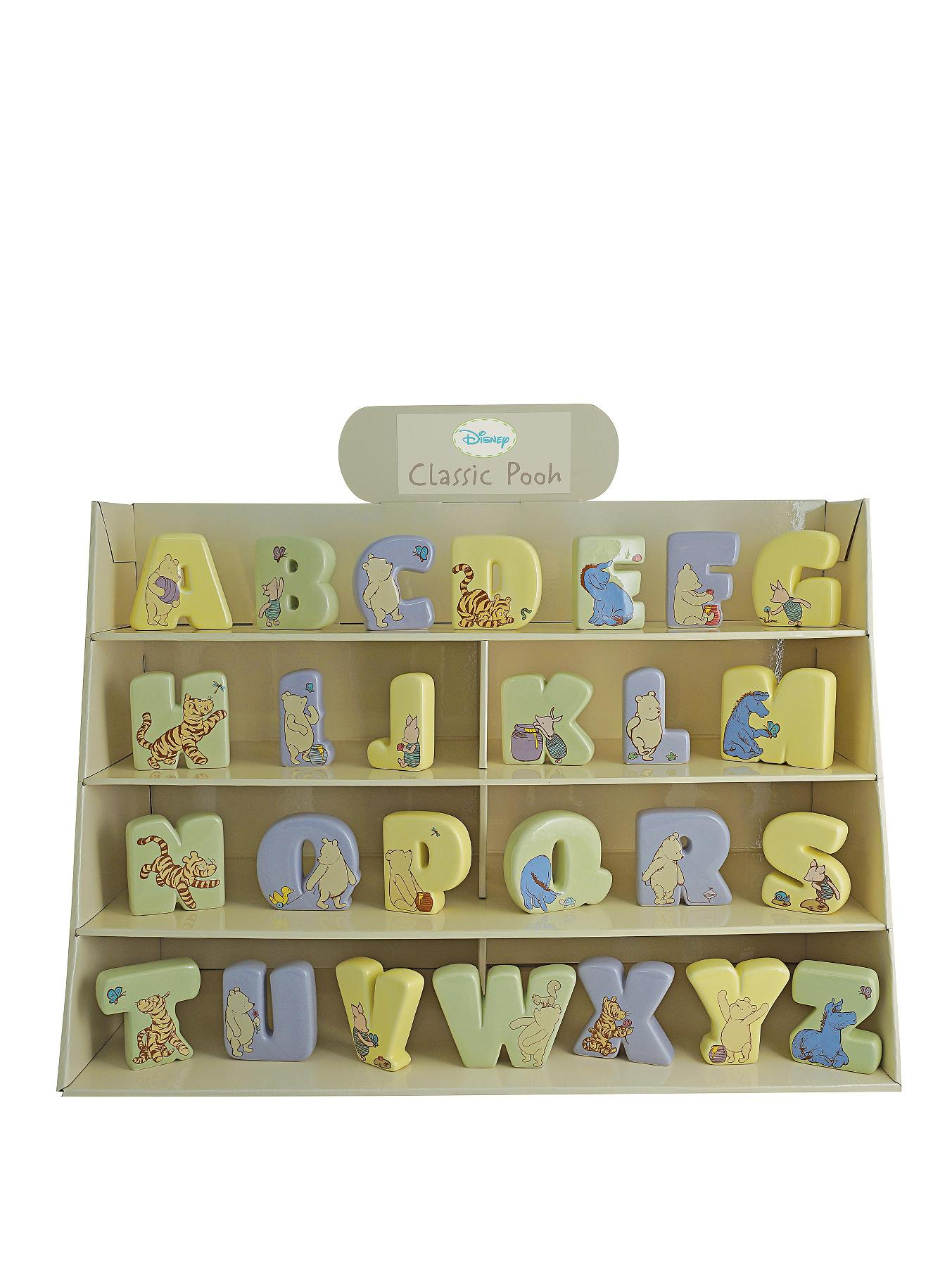Winnie The Pooh Disney Classic Pooh Ceramic Alphabet Letters - A-Z Options