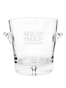 personalised-mr-mrs-glass-ice-bucket