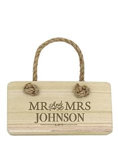 personalised-mr-mrs-wooden-sign