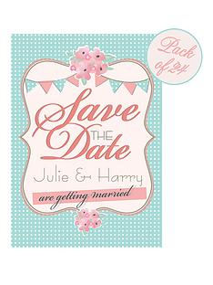 personalised-vintage-bunting-save-the-date-cards-pack-of-24