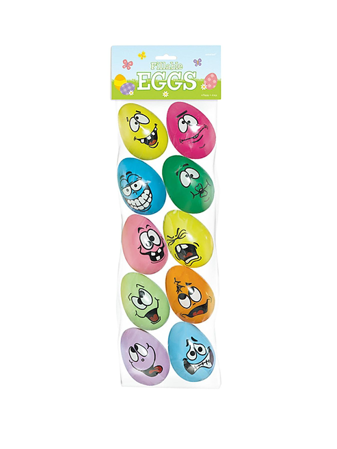 Easter Egg Hunt Crazy Eggs - Pack of 10