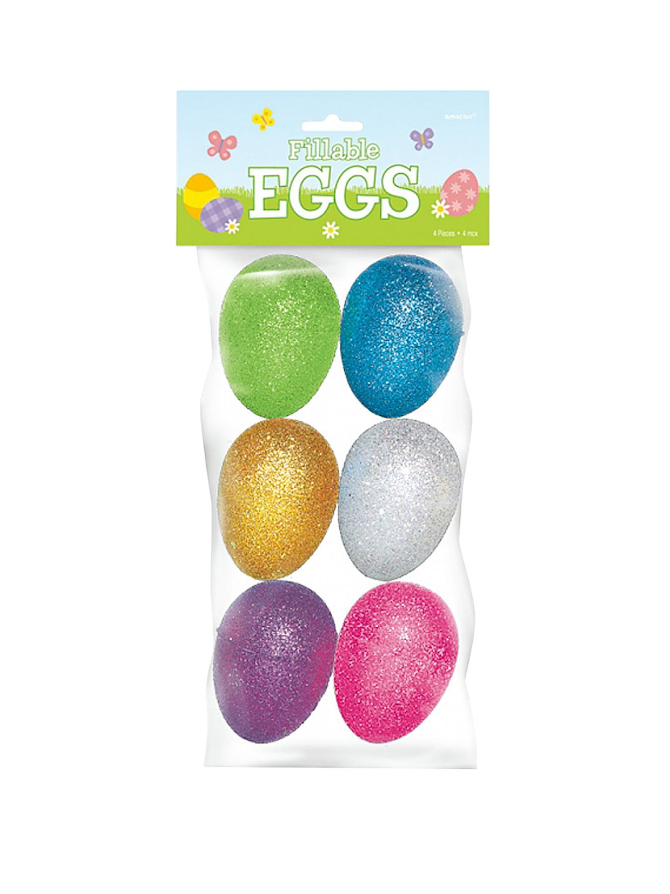Easter Egg Hunt Glitter Eggs - Pack of 6