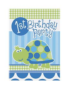 turtle-1st-birthday-party-invitations-16-pack