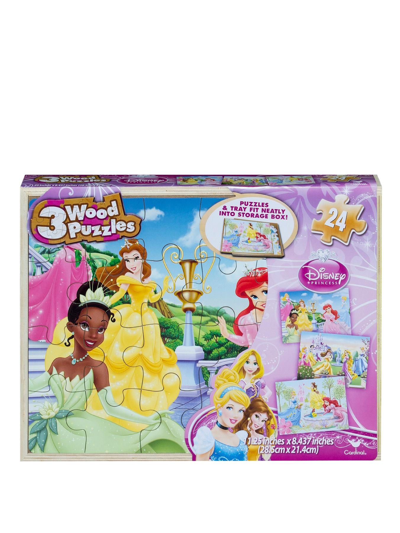 Disney Princess 3 Wooden Puzzles and Tray
