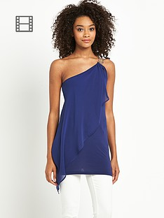definitions-one-shoulder-chain-detail-top