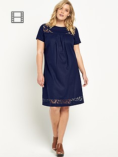 so-fabulous-lace-insert-linen-dress