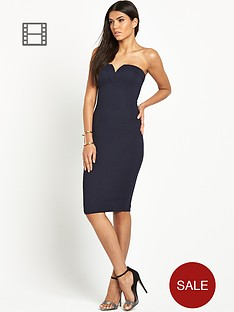 ax-paris-sleek-bandeau-midi-dress