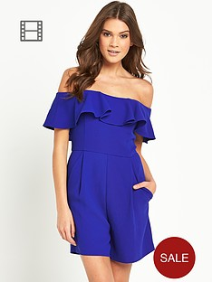 french-connection-aro-crepe-frill-playsuit