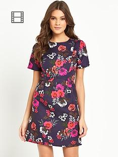 oasis-fusion-rose-jacquard-dress