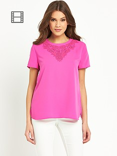 oasis-libby-trimmed-crepe-t-shirt