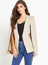 Collar Cape Blazer