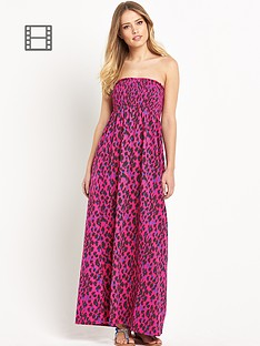 south-petite-animal-print-smocked-maxi-dress