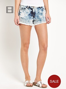 love-label-bleach-wash-cheeky-ripped-shorts