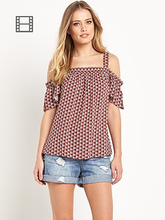 south-off-the-shoulder-printed-top