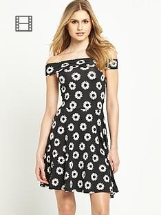 south-floral-print-bardot-dress