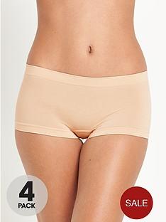 intimates-essentials-seamfree-shorts-4-pack