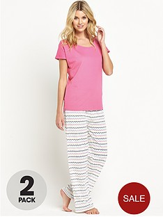 sorbet-heart-stripe-pyjamas-2-pack
