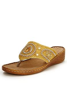foot-cushion-embellished-stitch-down-sandals-gold