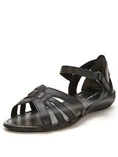 foot-cushion-strappy-flexi-soles-sandals-black