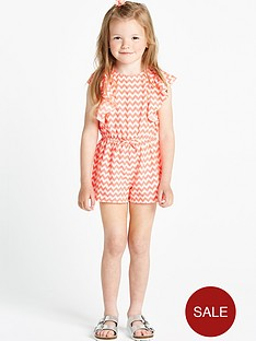 ladybird-girls-neon-pink-chevron-playsuit-12-months-to-7-years