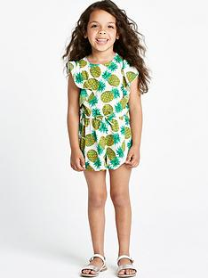 ladybird-girls-pineapple-print-playsuit-12-months-to-7-years