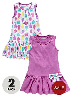 ladybird-girls-jersey-printed-dresses-with-3d-bows-2-pack-12-months-to-7-years