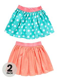 ladybird-girls-fluro-pink-and-spot-skirts-2-pack