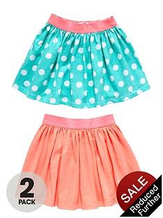 ladybird-girls-fluro-pink-and-spot-skirts-2-pack