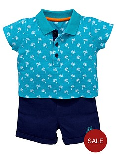 ladybird-baby-boys-2-piece-palm-tree-polo-shirt-and-shorts-set