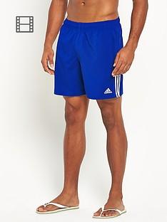 adidas-mens-3-stripe-solid-swim-shorts