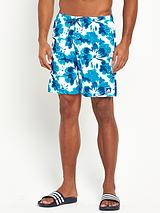 Mens Floral Print Swim Shorts